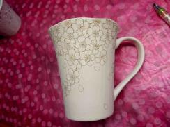 夜桜図マグカップ 線描き